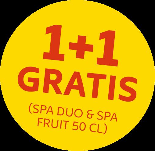 1 + 1 gratis (SPA duo & SPA fruit 50Cl